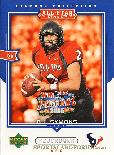 2004 UD Diamond All-Star Promo #AS42 B.J. Symons - qty: 1 - BV: N/A - Owned by: cpalmerfan