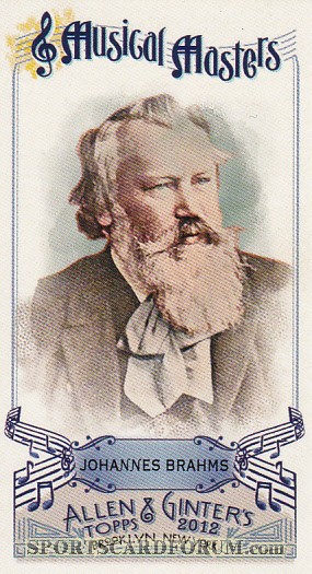 2012 Topps Allen And Ginter Mini Musical Masters #MM6 Johannes Brahms
