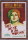 2009 Americana Movie Posters Material #55 Mae West
