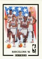 1991-92 SkyBox #NNO(1) Team USA Card/Patrick Ewing/Larry Bird/Michael Jordan/Scottie Pippen/Charles Barkley/Magic Johnson/Chris Mullin/David Robinson/John Stockton/Karl Malone